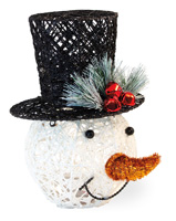 Tophat LED Snowman Head