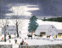 The MET Grandma Moses Mailman Has Gone Holiday Cards