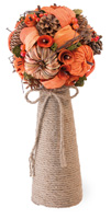 Pumpkin & Pinecone Bouquet Centerpiece