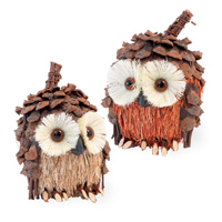 Pinecone Owl Pair