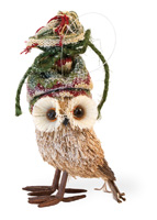 Glitzy Glen Owl Ornament