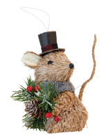 Dickens the Mouse Ornament