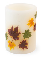 Falling Leaves LED Candle