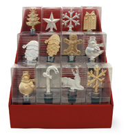 Christmas Icons Bottle Stopper Set