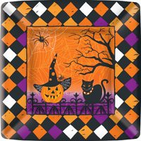 Haunted Halloween Dinner Paper Plates