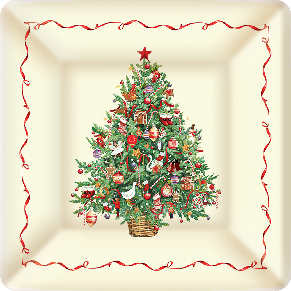 large decorative plates for the wall.htm christmas tree square paper dinner plates  christmas tree square paper dinner plates