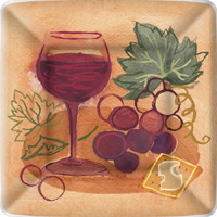 Napa Red Grape Dessert Paper Plates