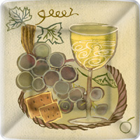Napa White Grape Dessert Paper Plates