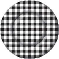 Buffalo Check Round Paper Dinner Plate