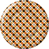 Rosanne Beck Plaid Pumpkins Round Paper Dinner Plates