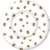 Save the Bees Round Dessert Paper Plates