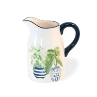 Blue Topiary Pitcher