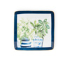 Blue Topiary Square Plate