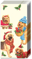 Christmas Dogs Pocket Tissues