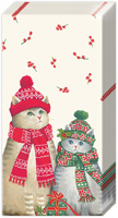 Christmas Cats Pocket Tissues