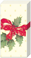 Christmas Bow Cream Pocket Tissues