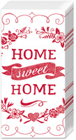 Home Sweet Home White/Red Pocket Tissues