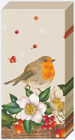 Welcome Red Robin Linen Pocket Tissues