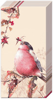 Beautiful Bullfinch Cream Pocket Tissues