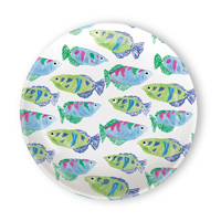 Rosanne Beck Spring Garden Tidbit Topper Plates (Set of 4)