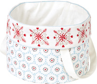 Winter Dotty Round Bread Basket