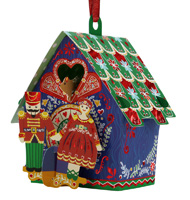 Santoro Cuckoo Clock Bauble Card