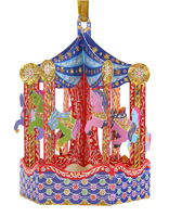 Santoro Carousel Bauble Card