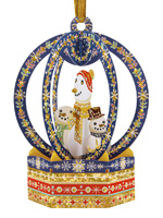 Santoro Snow Globe Snowmen Bauble Card