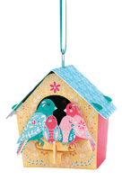 Santoro Bird House Family Chandelier Card
