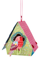 Santoro Bird House Robin Chandelier Card