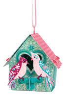 Santoro Bird House Love Birds Chandelier Card
