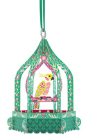 Santoro Birdcage Cockatoo Chandelier Card