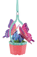 Santoro Butterfly Basket Violets Chandelier Card