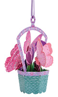Santoro Butterfly Basket Tulips Chandelier Card