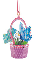 Santoro Butterfly Basket Daisy Chandelier Card