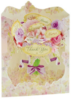 Santoro Floral Thank You Swing Card