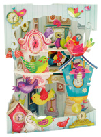 Santoro Birds & Clocks Swing Card