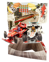Santoro Racing Cars Swing Card