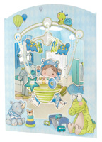 Santoro Baby Boy Swing Card