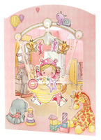 Santoro Baby Girl Swing Card