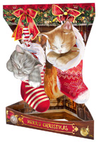 Santoro Christmas Kittens Swing Card