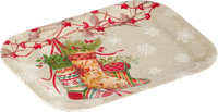 Decorative Stockings Snack Tray