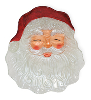 Santa Face Glass Plate