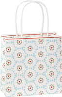 Winter Dotty Light Blue Gift Bag
