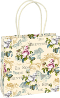Rose de Printemps Cream Gift Bag