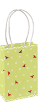 Little Ladybirds Mint Small Gift Bag