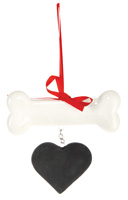 Pet Ornament Bone & Heart