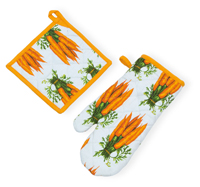Carrots Oven Mitt & Pot Holder Set