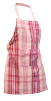 Pink Plaid Child Apron