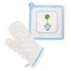 Blue Topiary Oven Mitt & Pot Holder Set